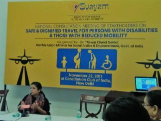 Ms. Sminu Jindal, Founder Svayam, addressing the National Meet